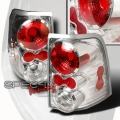 02-04 Ford Explorer Euro Tail Lights - Chrome