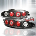 92-95 Mazda MX3 Euro Tail Lights - Black